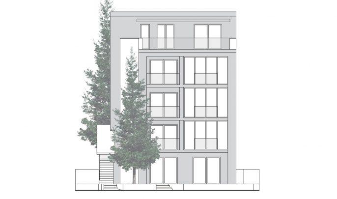 north facade
